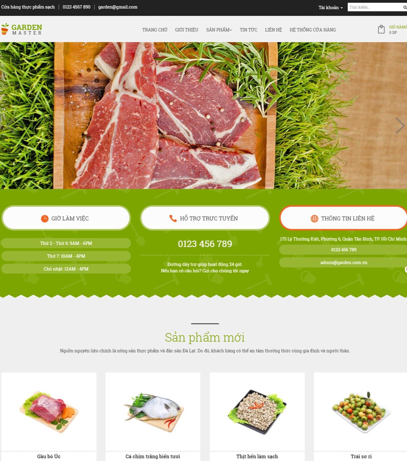 Top 5 mẫu website nông sản, thực phẩm chuẩn SEO